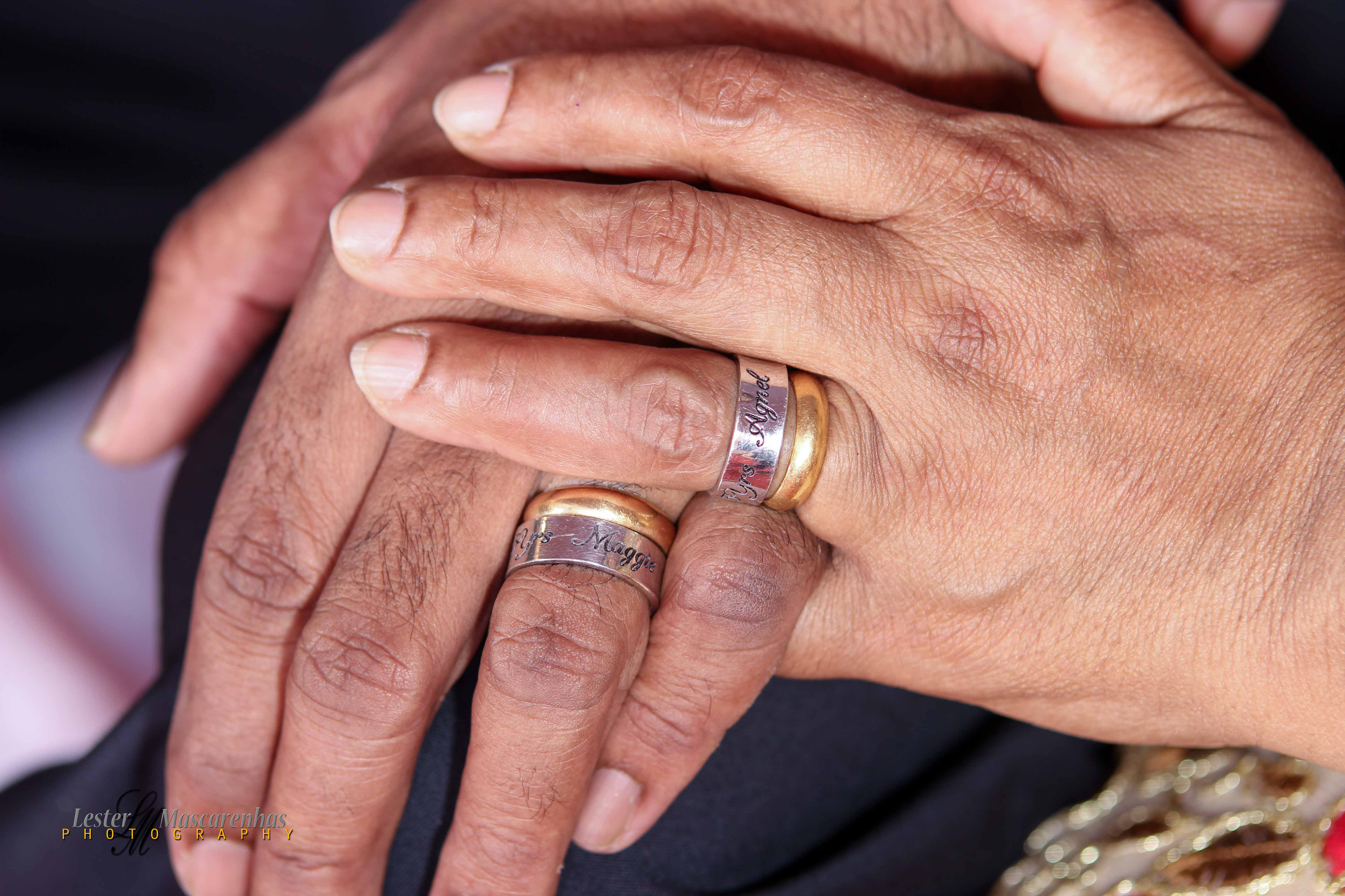 Agnel & Maggie\'s 25th Wedding Anniversary with exchange of rings.
